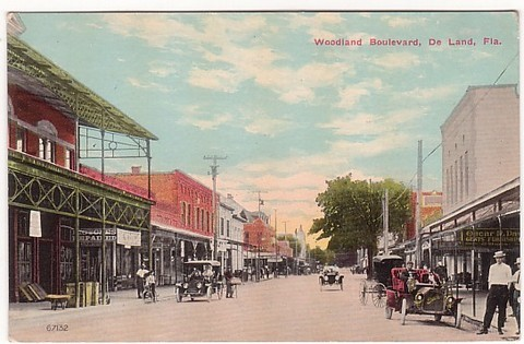 Another vintage postcard depicting early DeLand, FL.