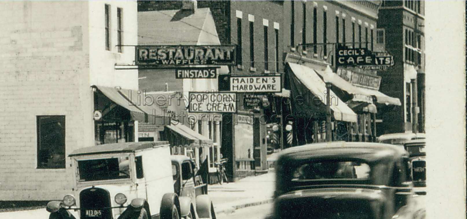 East side of Milwaukee Avenue, looking north from Lake Street, 1938