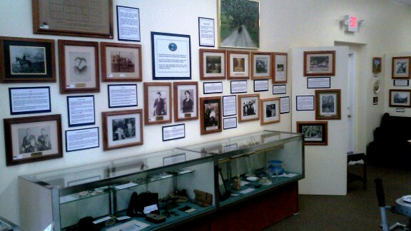 Several photographs are on the display at the museum, which is housed in the former train depot.