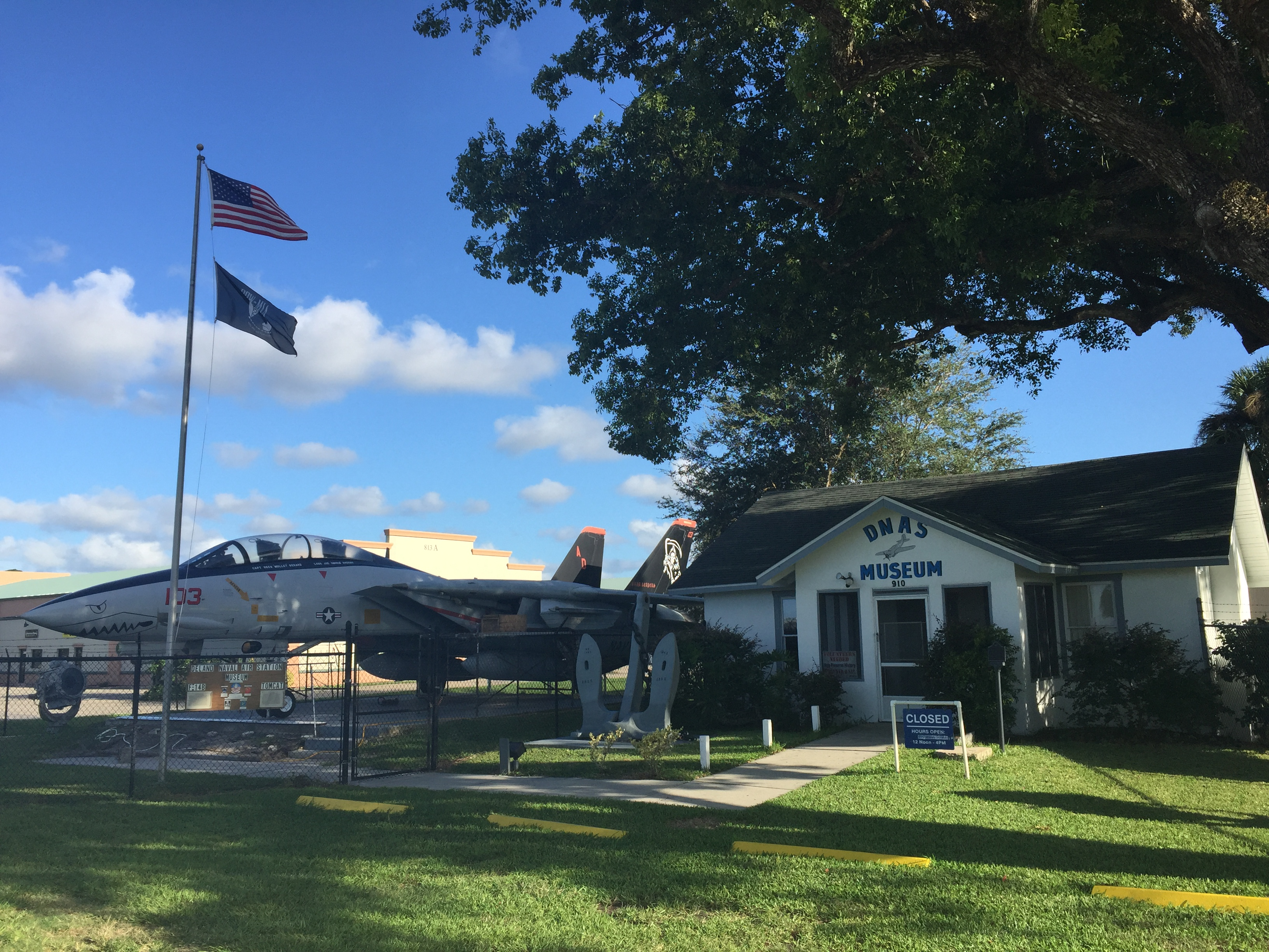DeLand Naval Air Station museum is located in the former Master of Arms residence, which is listed on the National Register of Historic Places.
