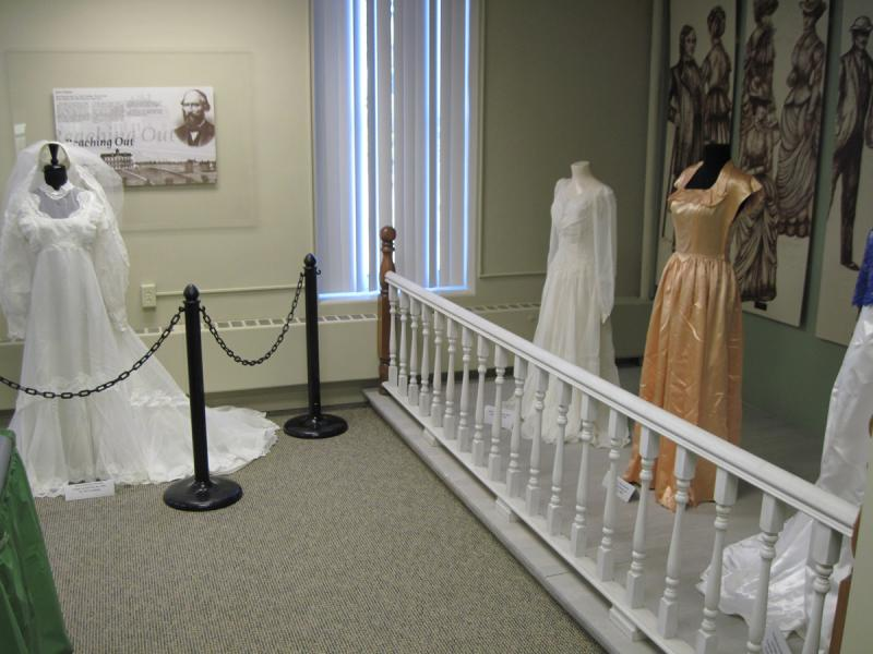 Wedding Gowns of Yesteryear Exhibit.