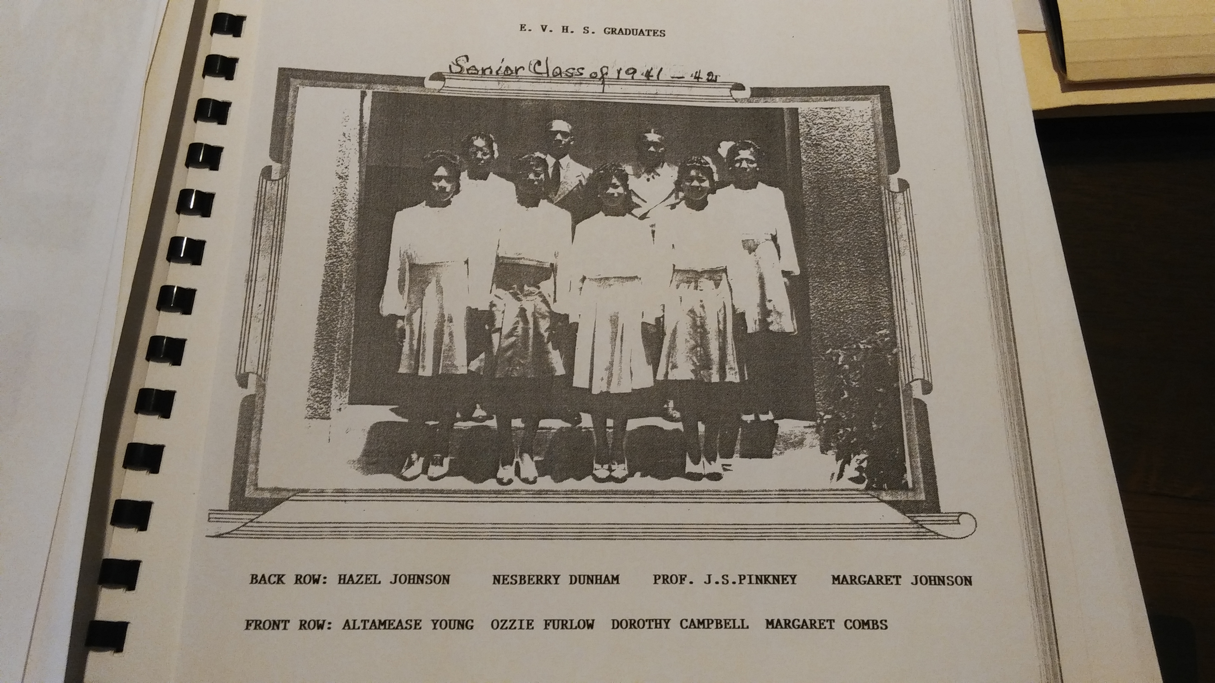 Eustis Vocational High School Senior Class of 1941-1942.