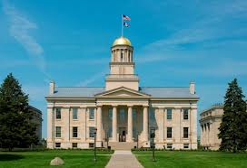 The former state capitol serves as the first home of the University of Iowa and is now a National Historic Landmark.