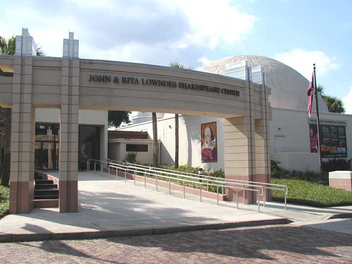 The Orlando Shakespeare Theater opened in 1989.