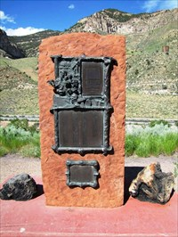 The Castle Gate Mine Memorial stands just off of Highway 6 very near to where the old town once was. The commemorative plaque has all of the names of those who died in the mine.(Castle Gate Mine Disaster Memorial - Castle Gate, Utah)