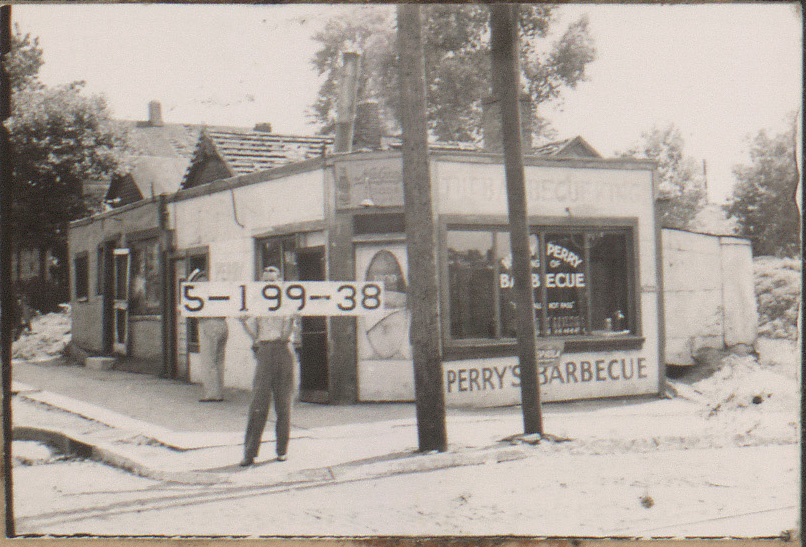 Perry's Barbecue restaurant at 1900 Highland Avenue