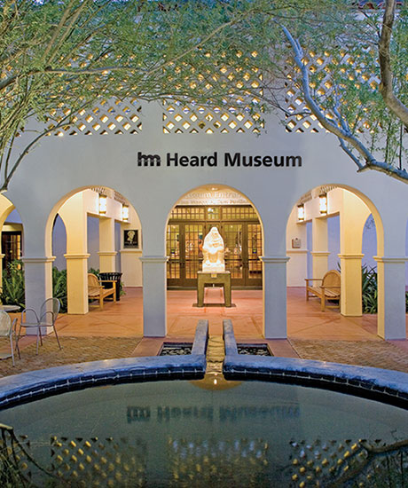 Courtyard adjacent to the Heard Museum entrance.