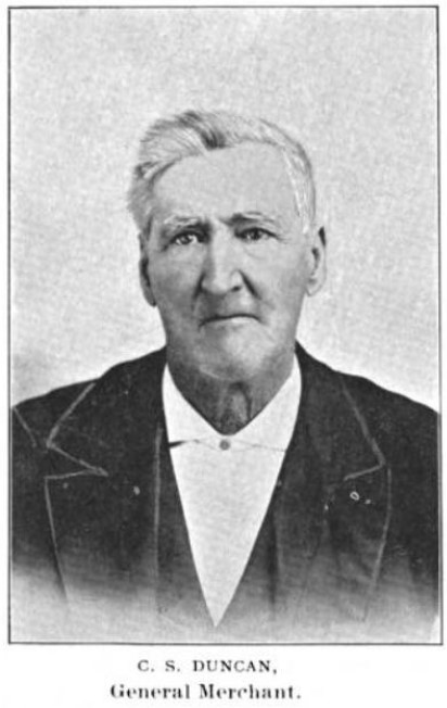 Photograph of Charles S. Duncan, merchant, early Kansas settler, from 1895 book (Cordley 1895:240)