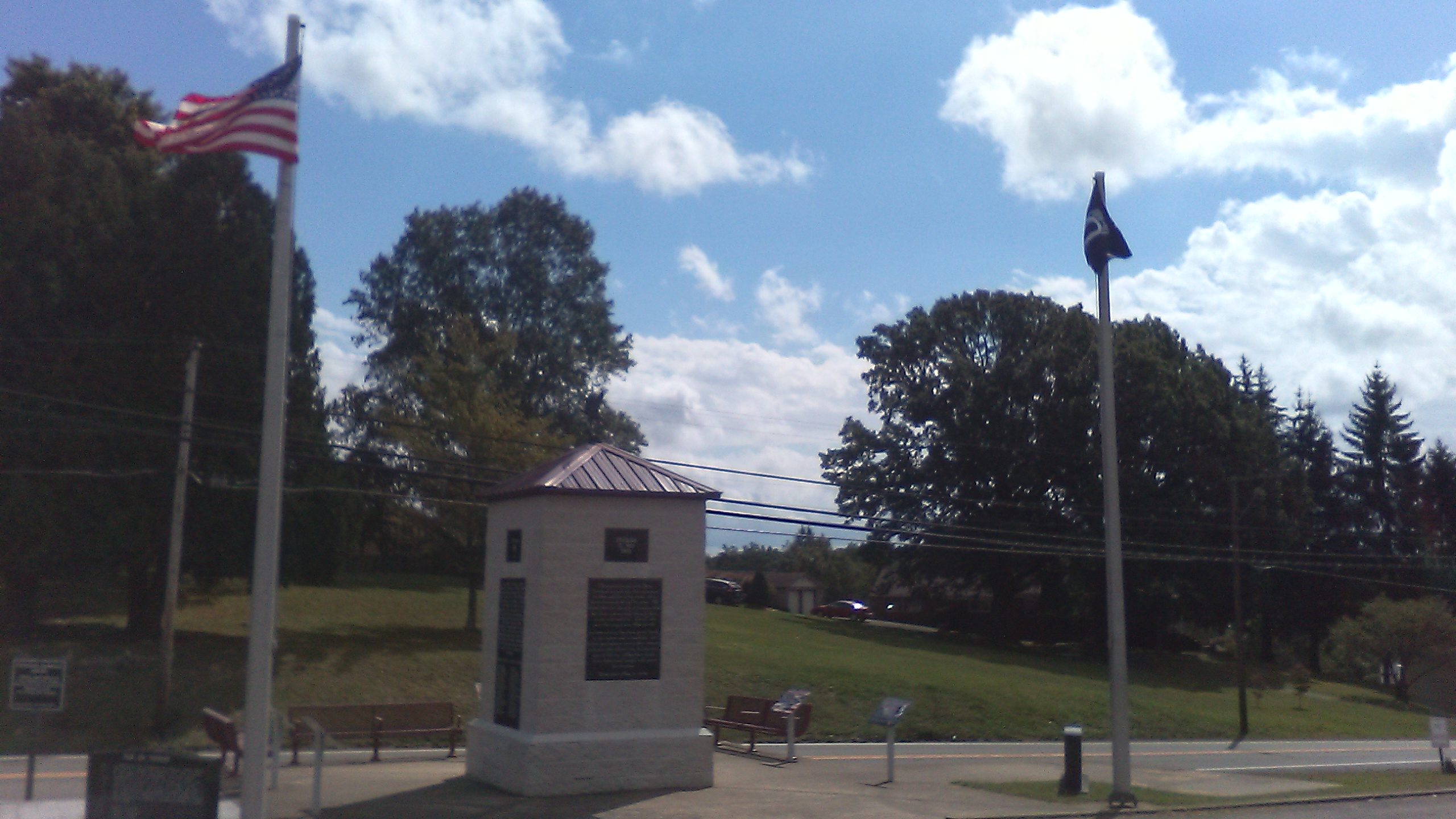 Picture of the rear side of the Raleigh County Veterans Memorial
