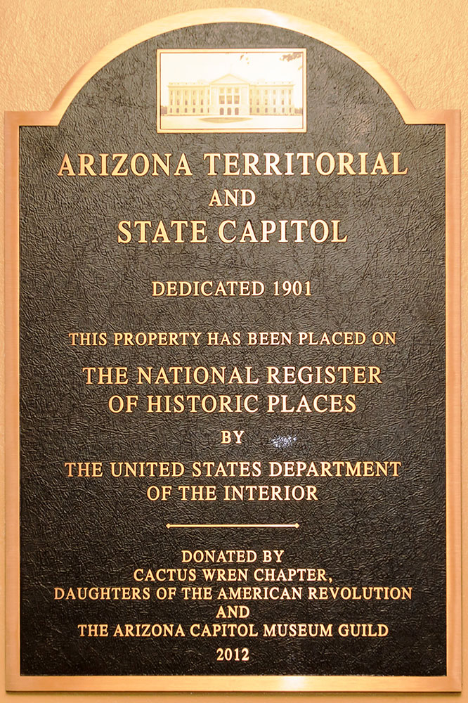 National Register of Historic Places designation plaque.