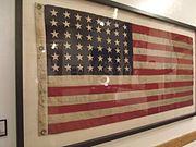 Flag from the U.S.S. Arizona.