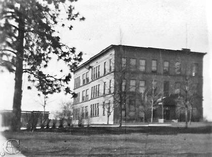 Taken from the west side of the building with Monroe Hall in the background.