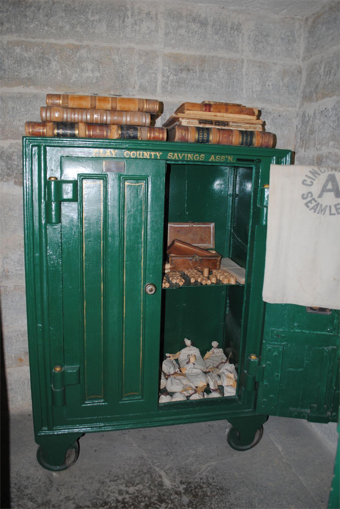 The safe inside the vault.