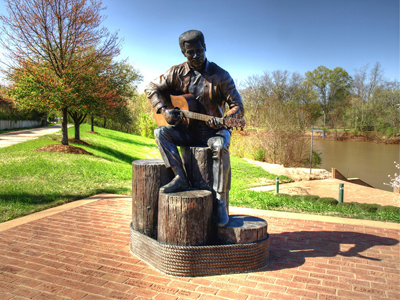 Otis Redding Statue in Macon, Georgia