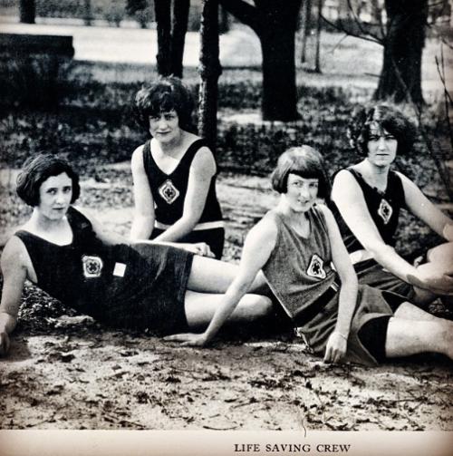 Wesleyan College lifeguards in 1924.