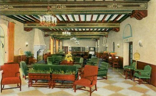 Hotel Saranac lobby (undated)