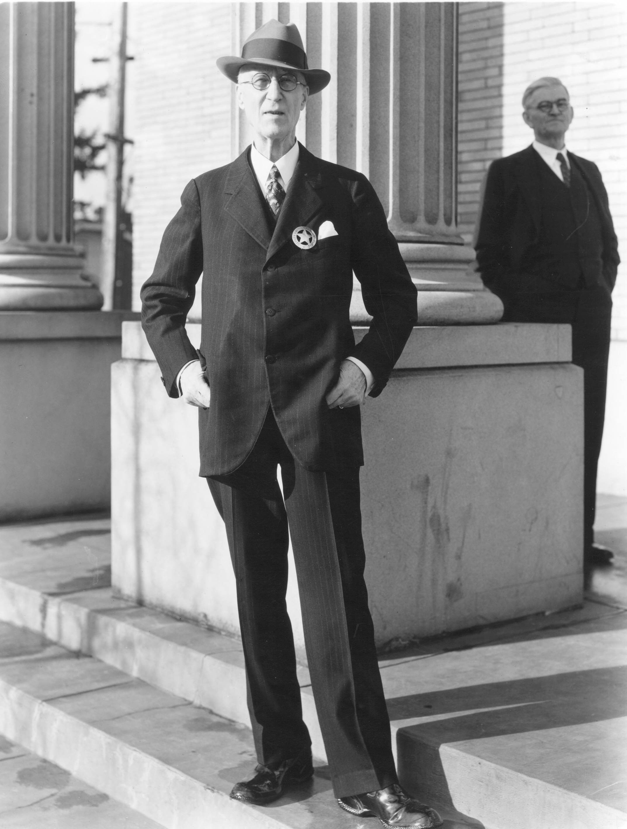 Alberty Whyte in 1935. Whyte was Captain of Tacoma's Home Guard during the events of November 3rd, 1885.