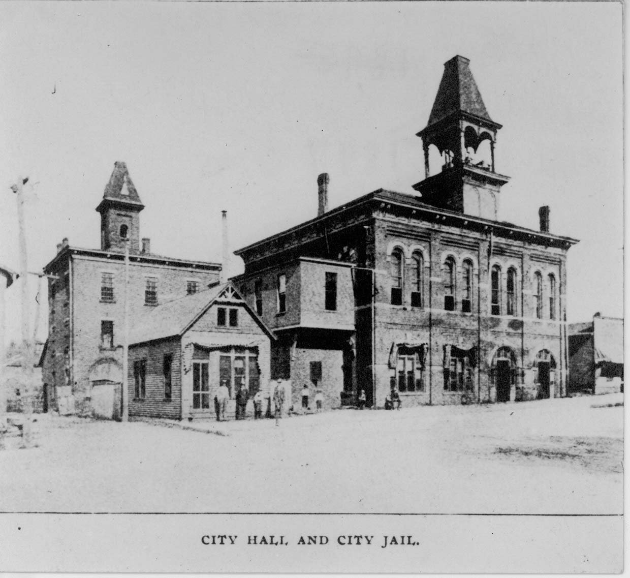 The 1886 City Hall, on the 400 block of Ninth Street, also housed the city jail, police and fire departments, and temporarily served as the county courthouse. Image courtesy of Marshall University Special Collections.