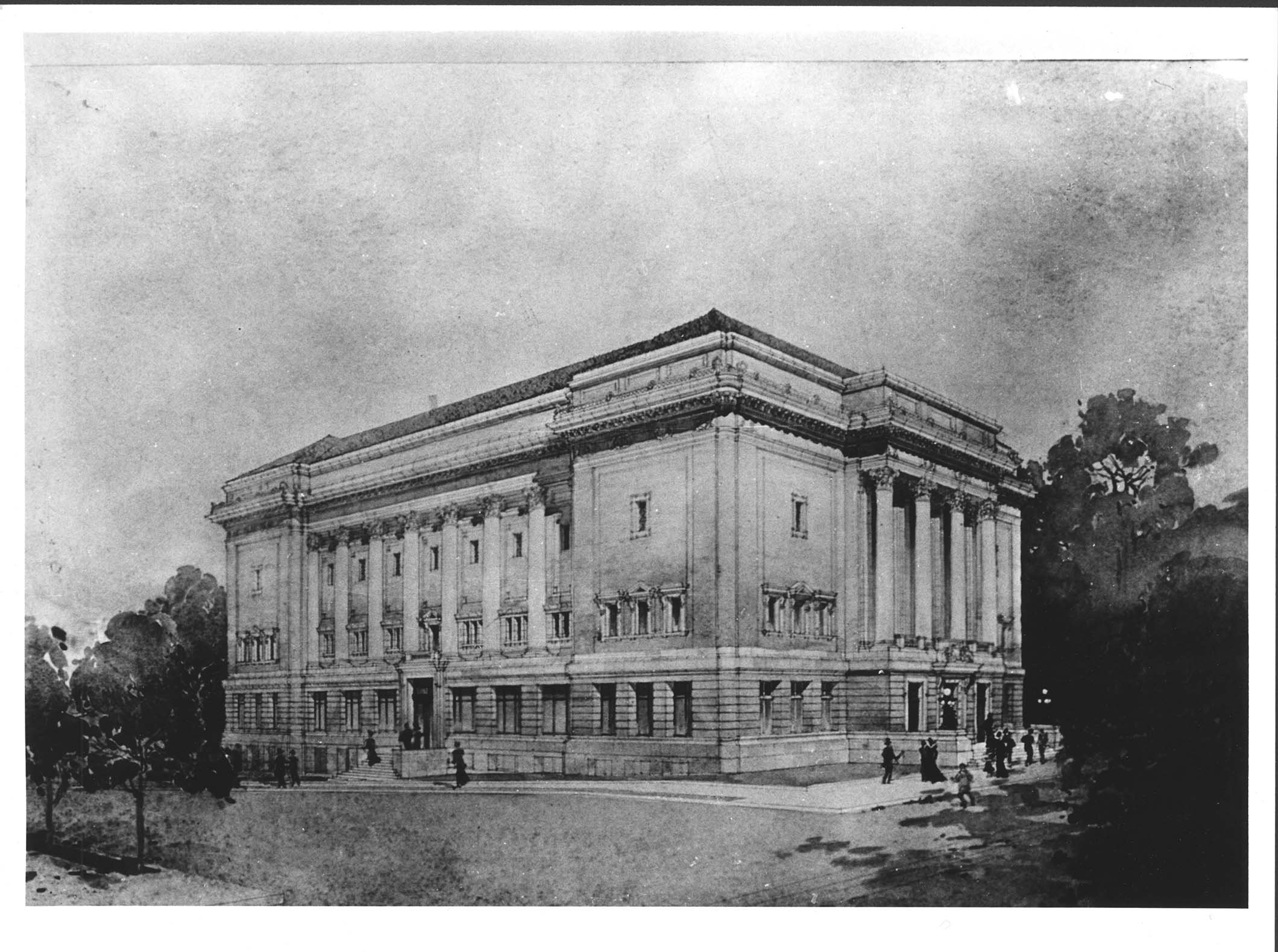 The third and final city hall building, shortly after its completion. Image courtesy of Marshall University Special Collections.