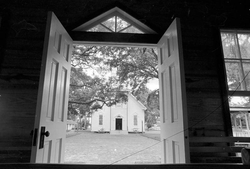 Courthouse doors looking to 1887 Church (1977)