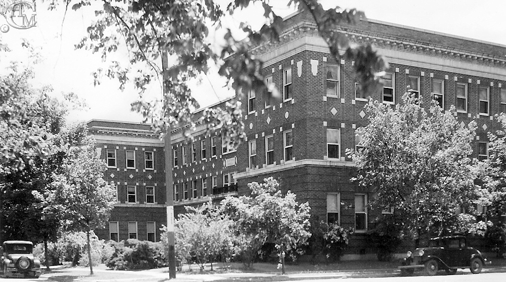 From 7th Street view of Sutton Hall