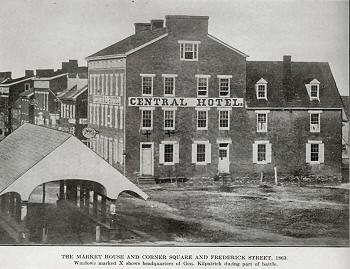 1863 view of Kilpatrick's Headquarters.