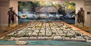 This is a model of the old part of Savannah designed by General James E. Oglethorpe in 1733.