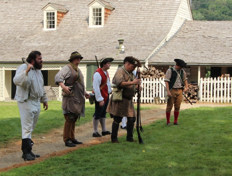Re-enactors on the lawn at Woodville.