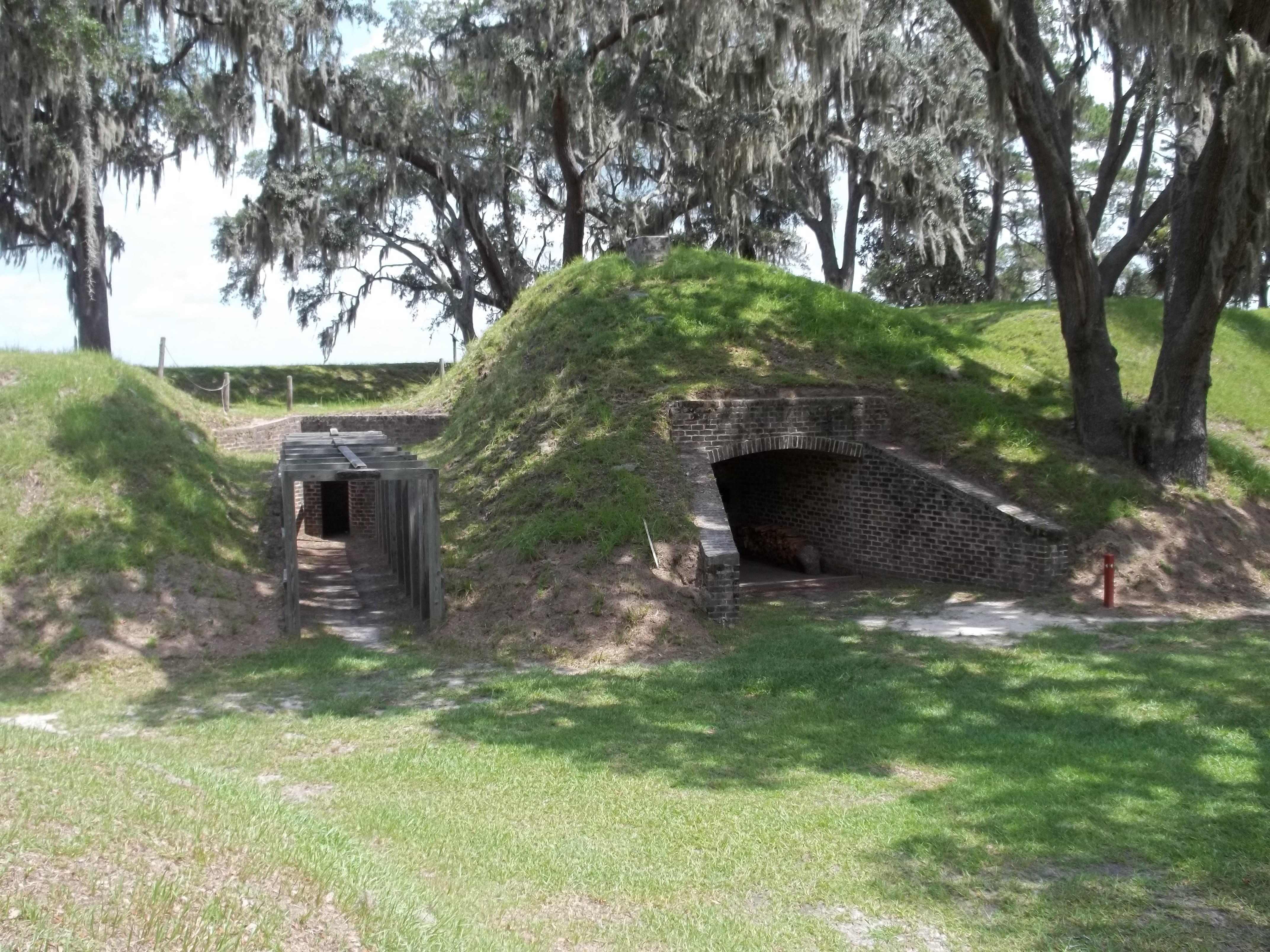 Some of the earthworks at Fort McAllister