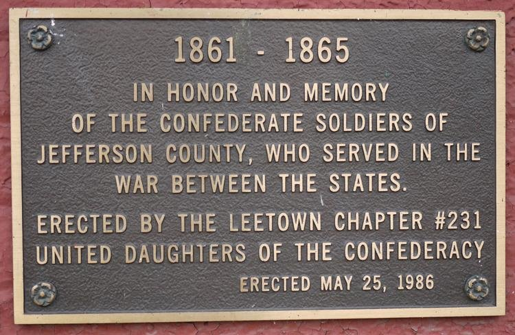 In 2017 a fierce debate was launched over the presence of a Confederate memorial plaque at the courthouse. It was ultimately decided to keep the plaque in place. Image obtained from the Spirit of Jefferson.
