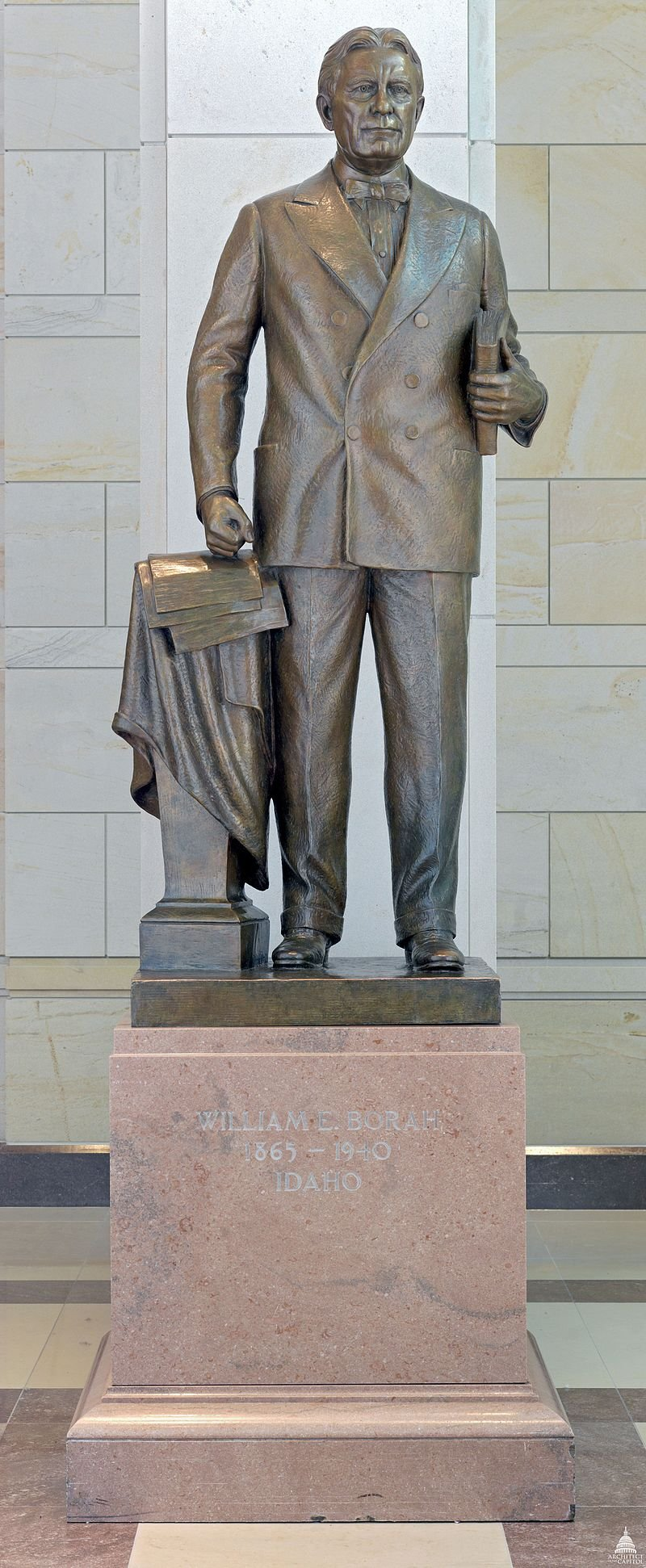 Statuary Hall in the United States Capitol features a statue of Borah by Bryant Baker, created in 1947. Photo courtesy of the Architect of the Capitol.