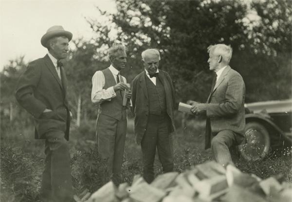 The original Four Vagabonds, three of whom visited Morgantown in 1921.