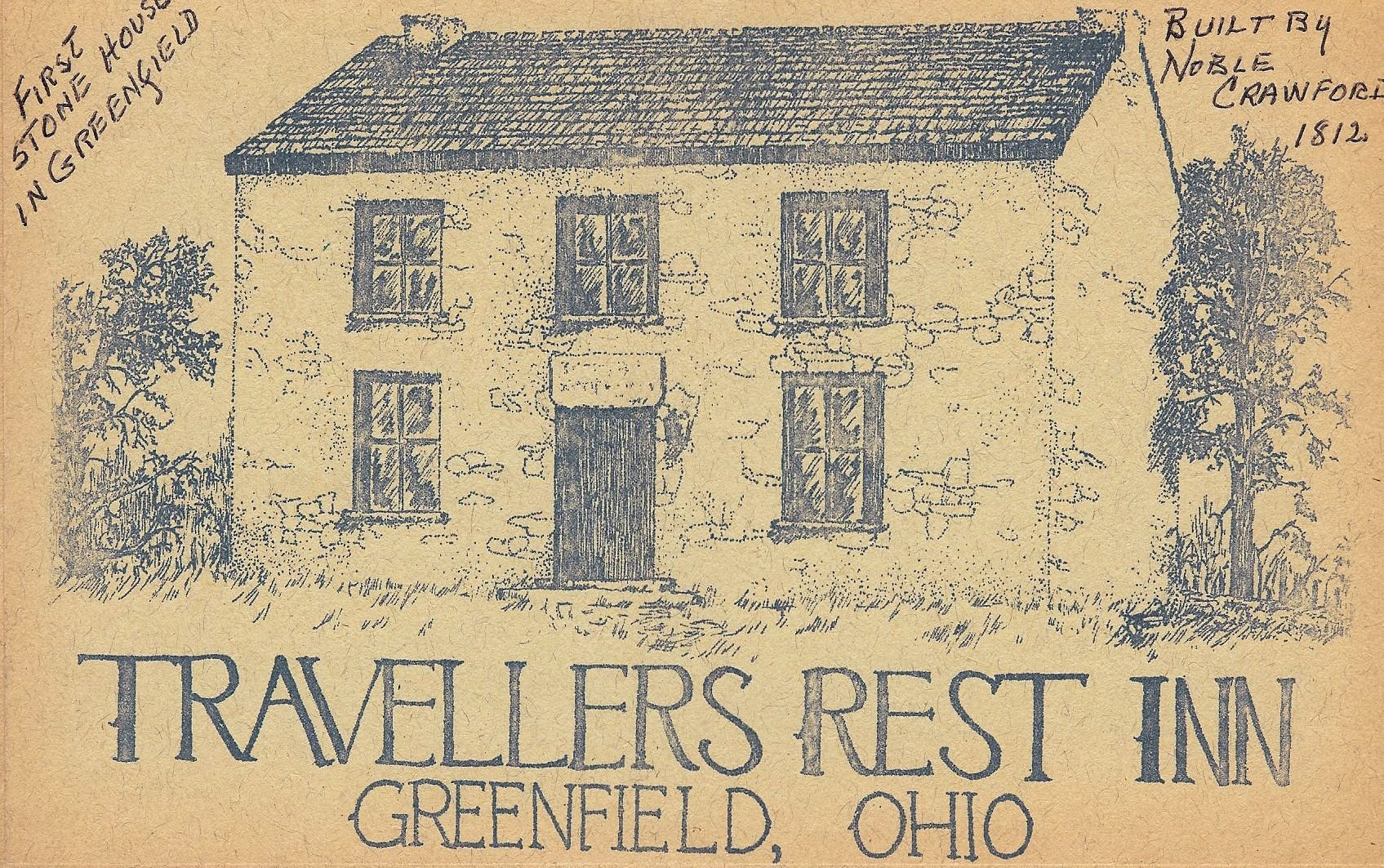 This is the cover page of an early booklet describing Travellers Rest