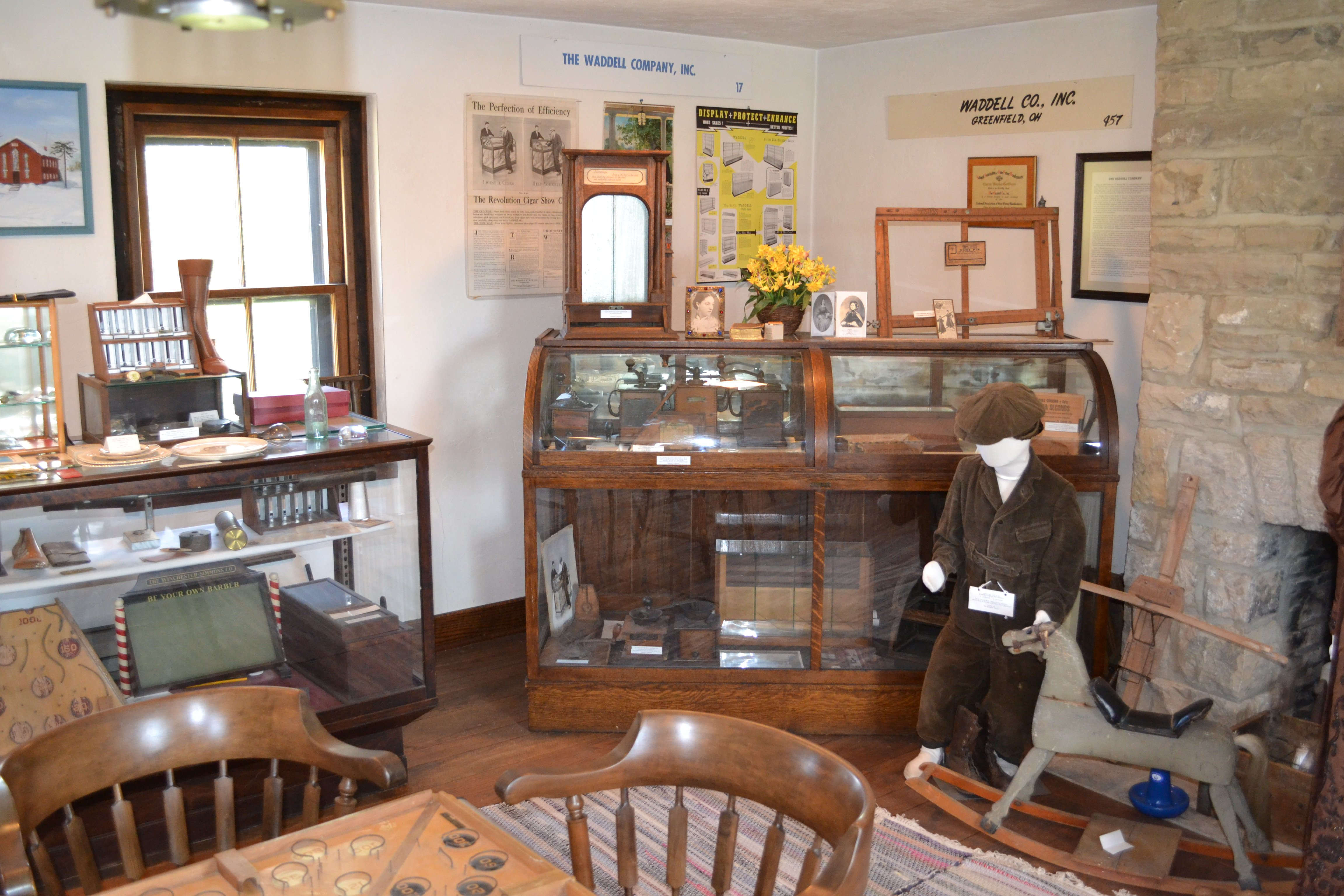 Some of the exhibits currently on display in Travellers Rest