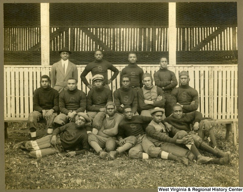 Storer College football team. Photo circa 1910, courtesy of West Virginia and Regional History Center, WVU Libraries.