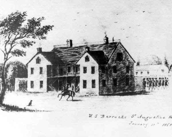 Drawing of the Saint Francis Barracks