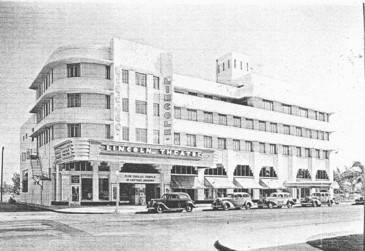 Lincoln Theatre circa 1940, image from Cinema Treasures