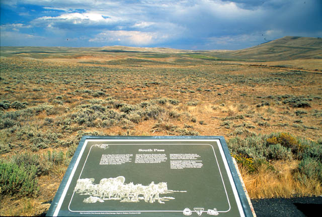 One of several historical markers that share the history of South Pass in this area