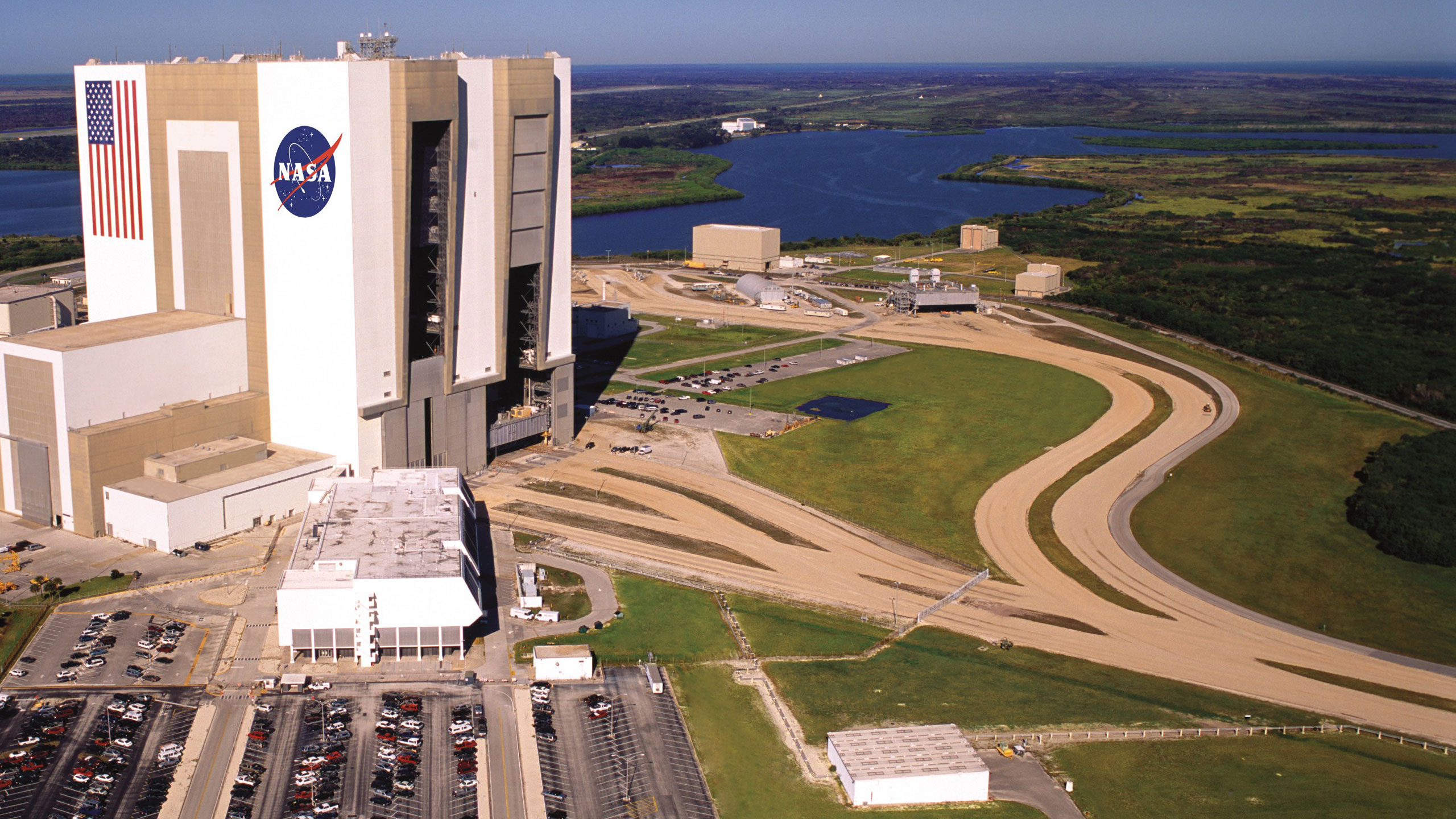 This is an overview image of the Kennedy Space Center