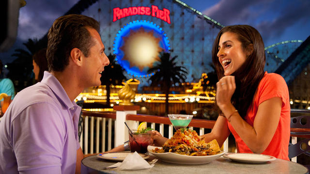 """This photo shows the Paradise Pier roller coaster, which is located in """"The Boardwalk"""" section of Disney's California Adventure Park, image from https://disneyland.disney.go.com/destinations/disney-california-adventure/."""