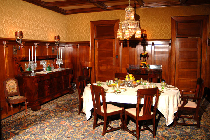 Fran and Jane Phillips entertained many of the region's most influential business leaders in this dining room.