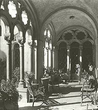 Photograph showing the previously open loggia as it appeared in the 1930s