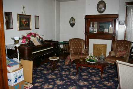 A parlor on the first floor of the Gallagher House.