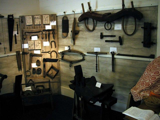 Interior of Richard Gwyn Museum.