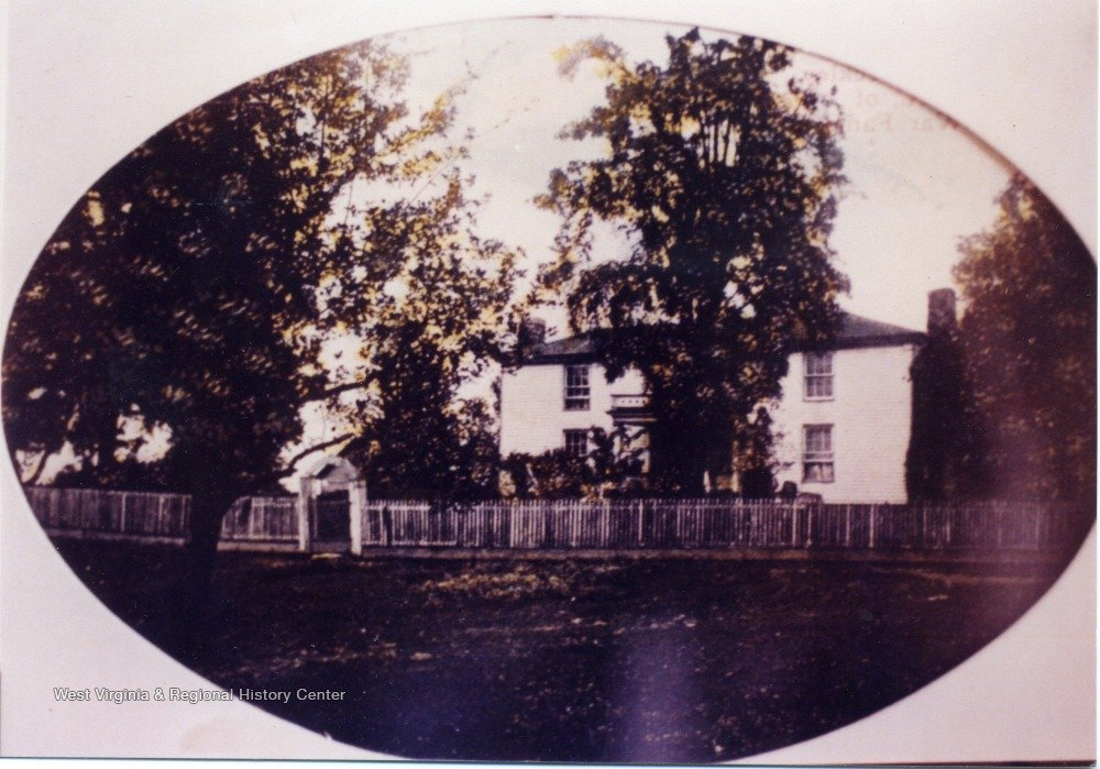 Rear view of Beckley's house.