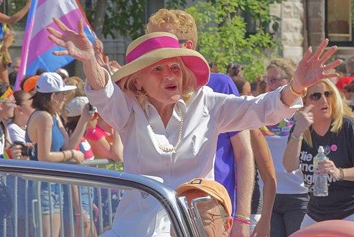 Edith Windsor celebrating at DC Pride in 2017