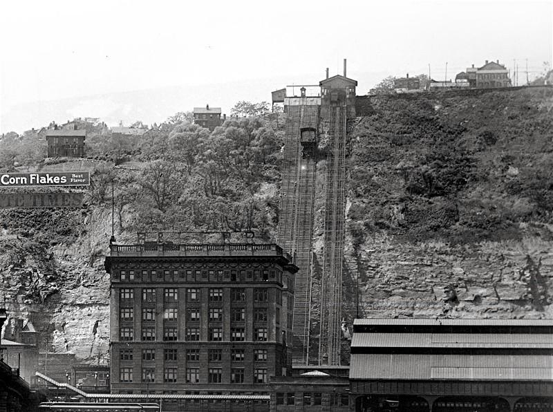 The Mon Incline in 1908.