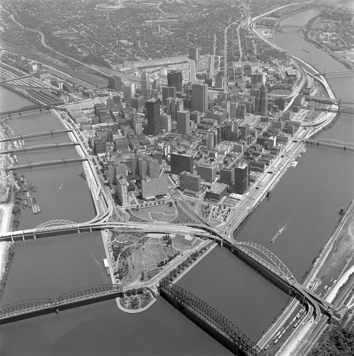 "The ""Golden Triangle"" prior to construction"