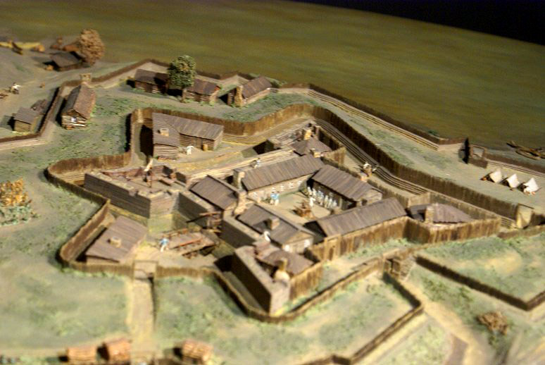 Scale model of Ft. Duquesne.