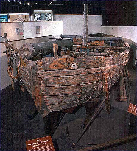 The USS Philadelphia on display at the National Museum of American History